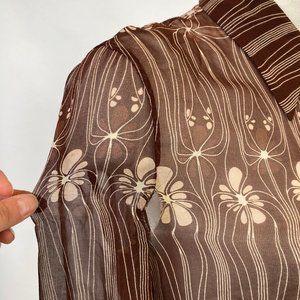 Miu Miu Dresses - Miu Miu Sheer Silk Floral Dress
